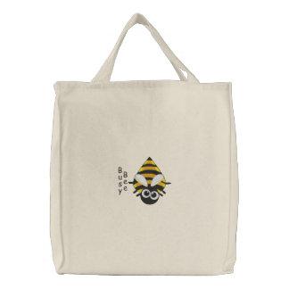 Niedliche kleine Biene - beschäftigte Bestickte Tragetasche