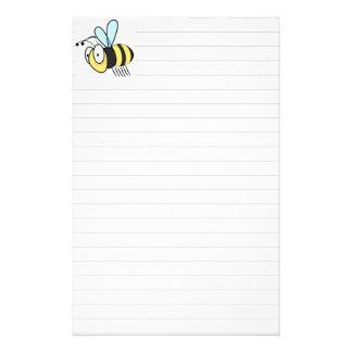 Niedliche kleine Cartoon-Hummel-Biene stationär Briefpapier