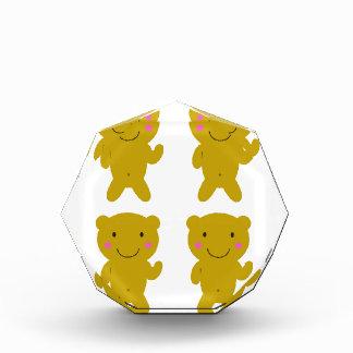 Niedliche kleine gelbe Teddies auf Weiß Auszeichnung
