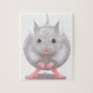 Niedliche kleine graue Maus Puzzle