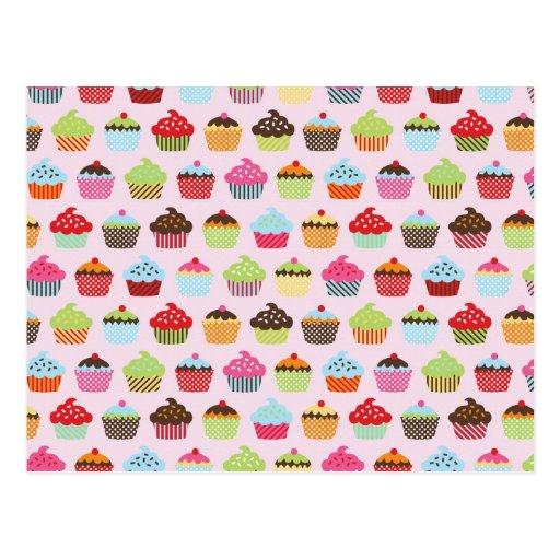 Niedliche kleine Kuchen Postkarten