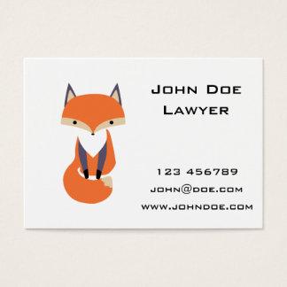 Niedliche kleine roter Fox-Illustration Visitenkarte