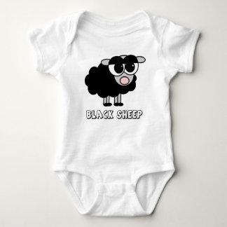 Niedliche kleine schwarze Schafe Baby Strampler