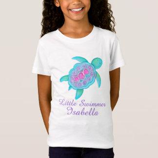 Niedliche kleine Schwimmermädchen zacken T-Shirt