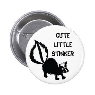 Niedliche kleine Stinker-Stinktier-Druck-Kunst-Gra Runder Button 5,1 Cm