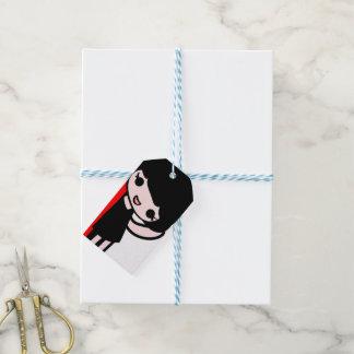niedliche kleines Mädchen Geschenk-Umbauten Geschenkanhänger