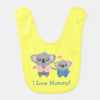 Niedliche Koala-Bärn-Mama und Kind Lätzchen