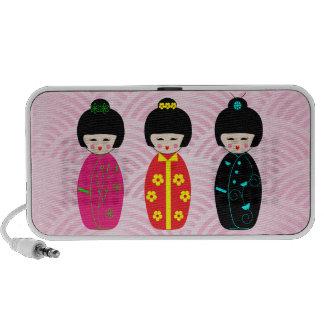 Niedliche Kokeshi Puppen-Entwürfe PC Lautsprecher