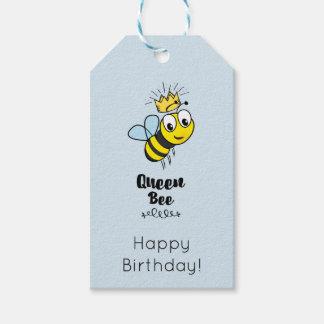 Niedliche Königin-Biene mit Kronen-alles Gute zum Geschenkanhänger