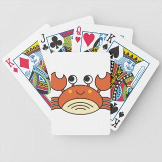 Niedliche Krabbe Bicycle Spielkarten