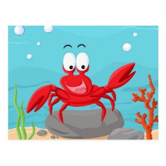 niedliche Krabbe Postkarte