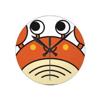 Niedliche Krabbe Runde Wanduhr
