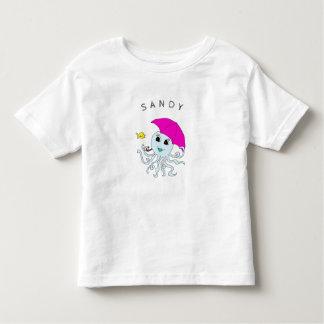 Niedliche Kraken-Freund-personalisiertes Kleinkind T-shirt