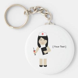 Niedliche Krankenschwester 2 Keychain Schlüsselanhänger