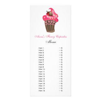 Niedliche Kuchen-Menü-Karten Individuelle Werbe Karte