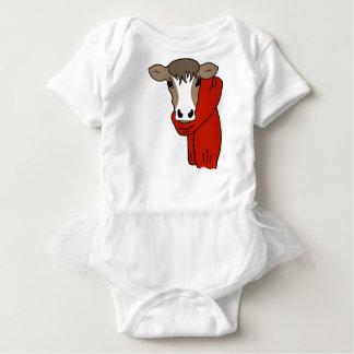 Niedliche Kuh, die einen Schal trägt Baby Strampler