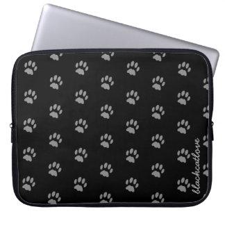 Niedliche kundenspezifische schwarze laptop sleeve