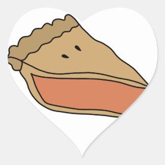 NIEDLICHE KÜRBIS-TORTE Herz-Aufkleber