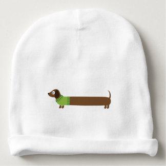 Niedliche lange Dackel-Illustration Babymütze