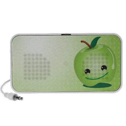 Niedliche Lautsprecher des grünen Apfels