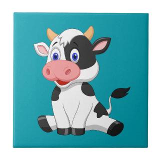 Niedliche lebhafte Kuh Fliese