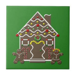 Niedliche Lebkuchen-Haus-Keramik-Weihnachtsfliese Fliese