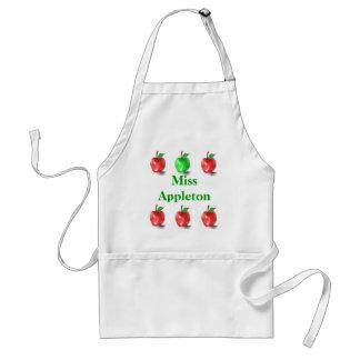 Niedliche Lehrer-Apfel-Kunst-Schürze Schürze