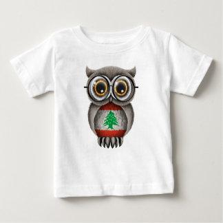 Niedliche libanesische Flaggen-Eulen-tragende Baby T-shirt