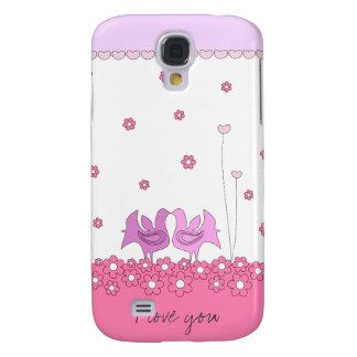 Niedliche Liebehenne und Blumen iPhone 3 Fall Galaxy S4 Hülle