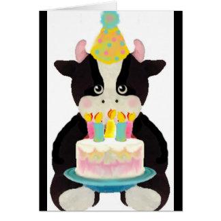 niedliche lil Kuh-Geburtstagskarte