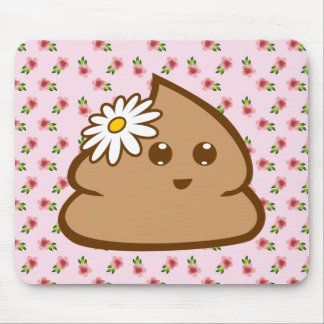 Niedliche Lil Poo Mausunterlage Mousepad