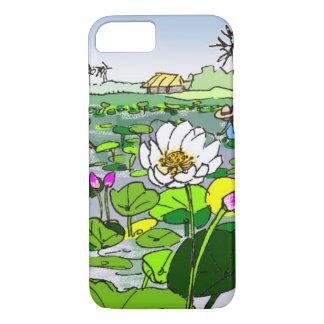 Niedliche Lotos-Blumen im Teichtelefonfall iPhone 8/7 Hülle