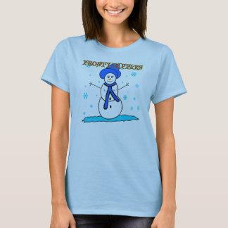 Niedliche lustige eisige Nippel-Weihnachtst-shirts T-Shirt