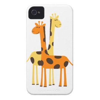 Niedliche lustige Giraffen-Paare Case-Mate iPhone 4 Hülle