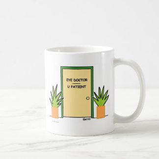 Niedliche lustige kundengerechte optische kaffeetasse