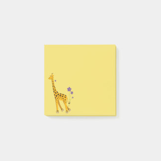 Niedliche lustige Skaten-Cartoon-Giraffe Post-it Klebezettel