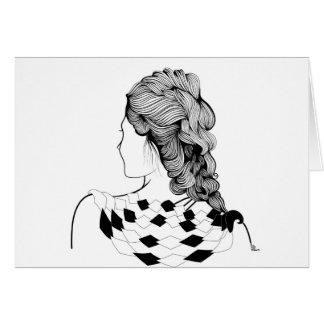 Niedliche Mädchen-Frisur Karte