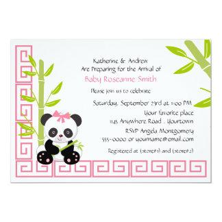 Niedliche Mädchen-Panda-Baby-Dusche Karte