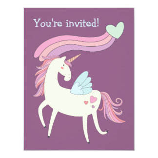 Niedliche magische Unicorn-Geburtstags-Party Karte