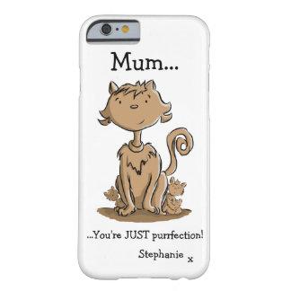 Niedliche Mama-Katze und Kätzchen Barely There iPhone 6 Hülle