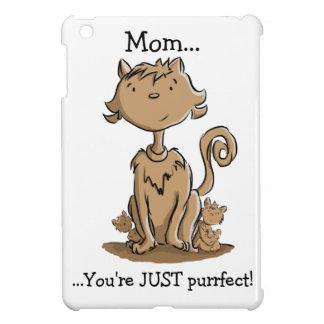Niedliche Mama-Katze und Kätzchen Hülle Für iPad Mini