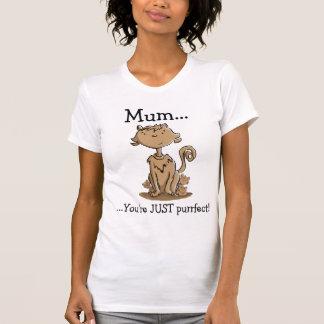 Niedliche Mama-Katze und Kätzchen Tshirts