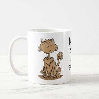 Niedliche Mamakatze und -kätzchen Tasse