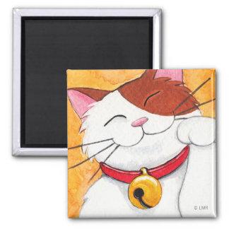 Niedliche Maneki Neko glückliche Kaliko-Katze Kühlschrankmagnet