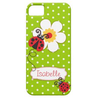 Niedliche Marienkäfermädchen nennen grünen roten iPhone 5 Hüllen