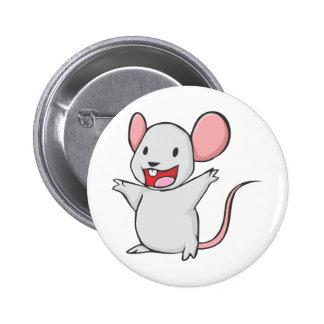 Niedliche Maus Runder Button 5,1 Cm