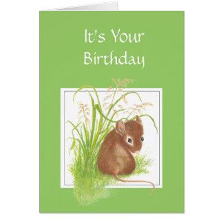 Niedliche Maus, Geburtstags-Freund Karte