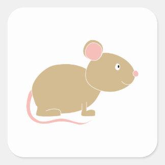 Niedliche Maus Quadratischer Aufkleber