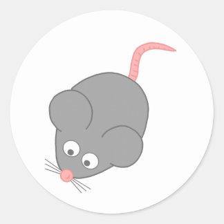 Niedliche Maus Runder Aufkleber