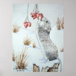 Niedliche Maus und rote Poster